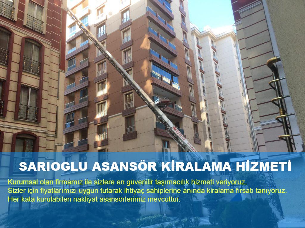 İstanbul Eşya Taşıma asansörleri